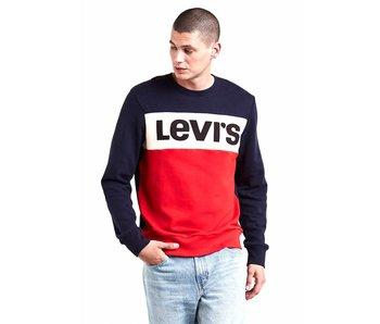 Levi's Colorblock crewneck blauw 52604-0000
