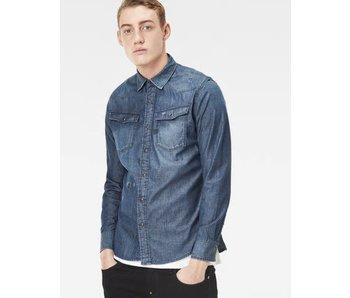 G-Star 3301 shirt ls blauw d07001