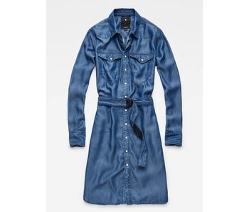 G-Star Tacoma shirt dress ls blauw d06305-8618