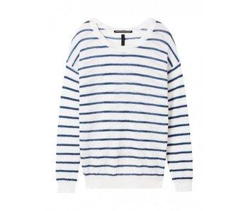 10Days Sweater stripe off white 20-604-8101