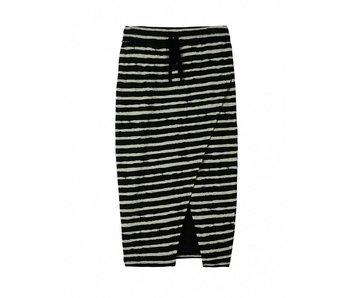 10Days Skirt painted stripe zwart 20-104-8101