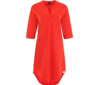 Penn & Ink Dress stripe rood s18n025