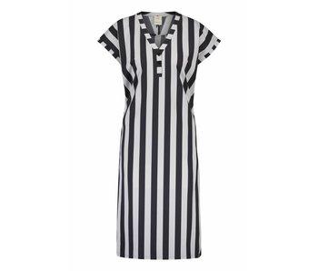 Penn & Ink Dress stripe grijs s18n228