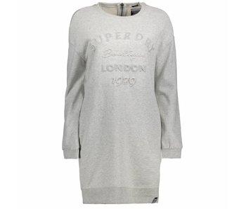 Superdry Graphic emboss sweat dress grijs G80002PQ