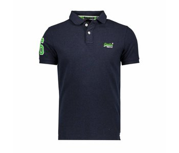 Superdry Classic pique polo blauw M11002OQF2