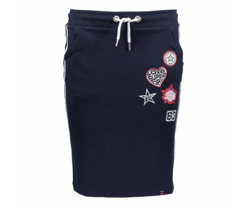 Superdry Collegiate sweat skirt donkerblauw G72001SQ