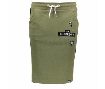 Superdry Collegiate sweat skirt groen G72001SQ
