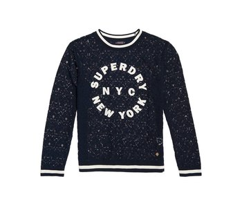 Superdry Laced tipped rib top donkerblauw G60001HQ