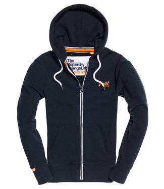 Superdry Orange label light ziphood blauw M20555PQ