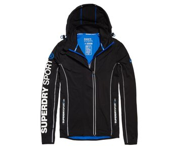 Superdry Sport athl panel ziphood zwart m60012pp