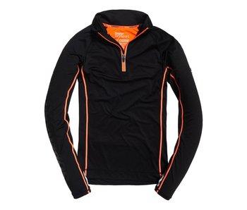 Superdry Sport athl 1/2 zip henley zwart m60010pp