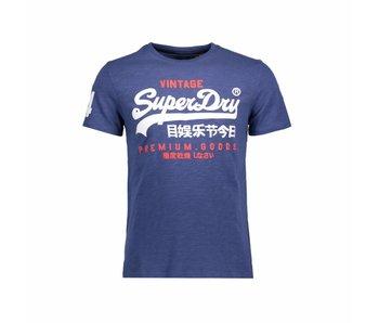 Superdry Premium goods duo tee blauw M10006PQ