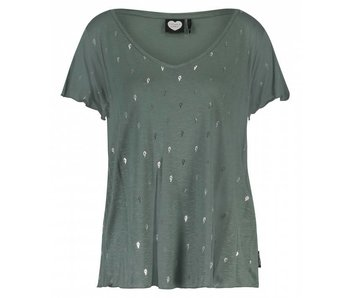 Catwalk Junkie T-shirt light my fire groen 1802010268