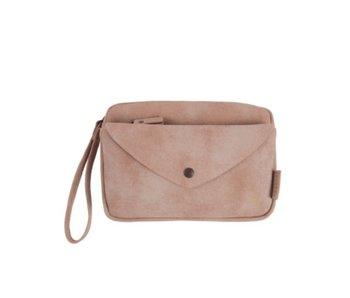Zusss Handige portemonnee clutch roze