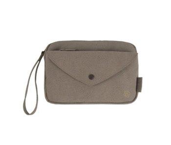Zusss Handige portemonnee clutch grijs