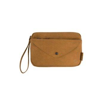 Zusss Handige portemonnee clutch bruin