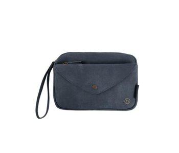 Zusss Handige portemonnee clutch blauw