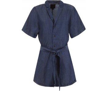 G-Star Bronson Short jumpsuit blauw D08098