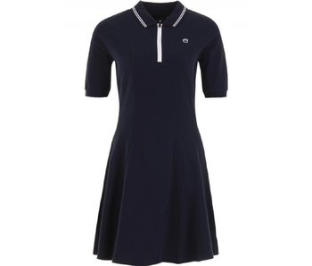 G-Star Raw Correct polo flare dress donkerblauw D08189