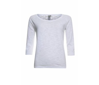 Poools Pullover broderie wit 813241