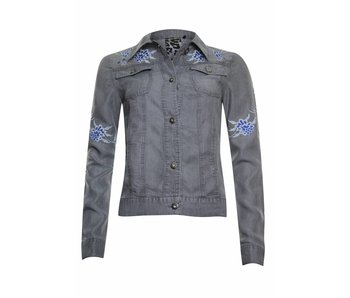 Poools Jasje embroidery grijs 813215