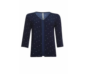 Poools Blouse Anchor donkerblauw 813206