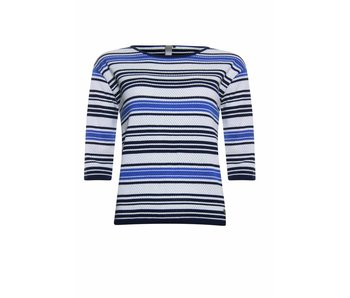Poools Pullover striped blauw 813199