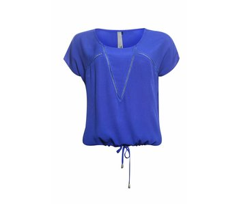 Poools Blouse tape blauw 813205