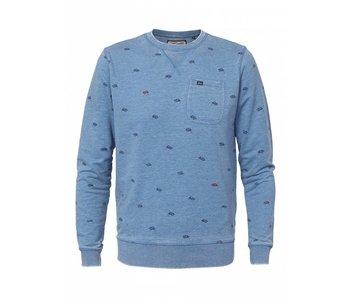 Petrol Industries Sweater blauw M-ss18-swr306