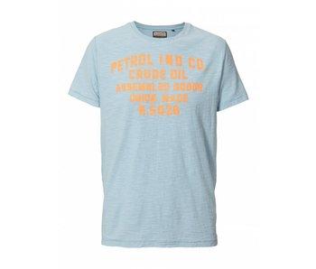 Petrol Industries T-shirt  lichtblauw M-SS18-TSR671