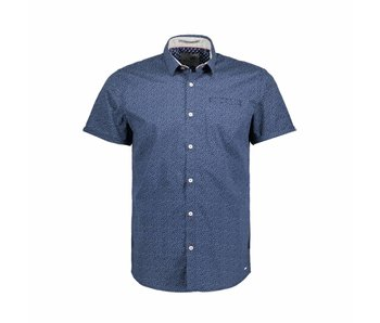 No Excess Shirt allover printed, stret navy 85460304