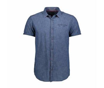 No Excess Shirt solid dobby, inside indigo 85440301