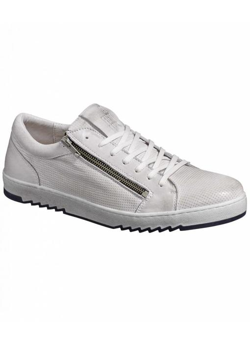 No Excess leather sneaker, zipper Chalk 85SHOE06