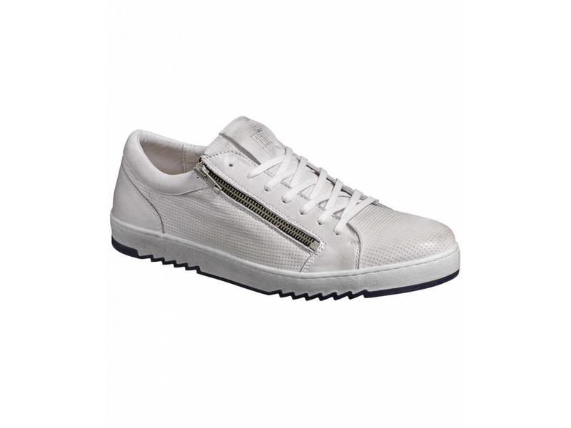No Excess leather sneaker, zipper Chalk 85SHOE06