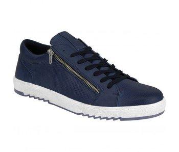 No Excess leather sneaker, zipper deta blauw 85SHOE06