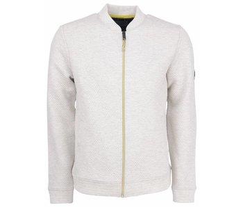 No Excess Sweater, full zip cardigan, bomber, Milk 85100104