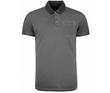 No Excess T-shirt polo, dark seam washed steel 85350382
