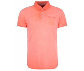 No Excess T-shirt polo, dark seam washed cranberry 85350382