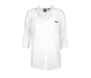Superdry Sheer regatta shirt wit G40001AQ