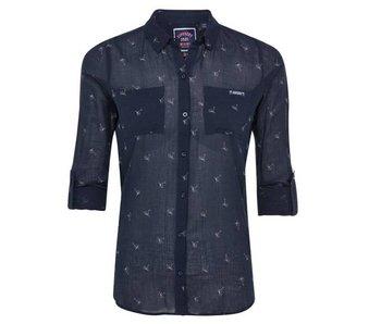 Superdry Sheer regatta shirt blauw G40001AQ