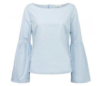 Yaya BLOUSE BELL SLEEVE STRIPED CHAMBRAY BLUE DESSIN 012601-814