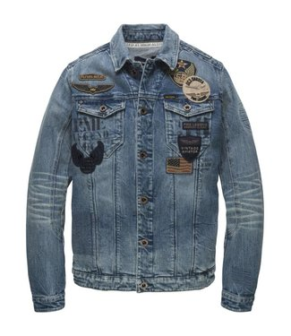 PME Legend Denim Jacket STONE VINTAGE STRETCH PDJ181150