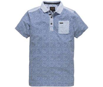 PME Legend Short sleeve polo Light pique Office Blue PPSS182862