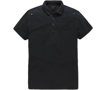 PME Legend Short sleeve polo Rugged Pique Dark Navy PPSS182865