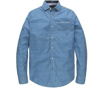 PME Legend Long Sleeve Shirt Poplin Print Cact: Brilliant Blue PSI182203