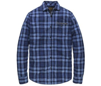 PME Legend Long Sleeve Shirt Check Louis Navy PSI182215