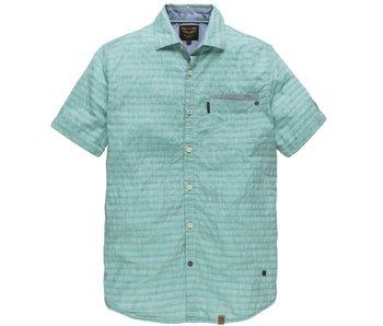 PME Legend Short Sleeve Shirt Chambrey Stripe viridian green PSIS182223