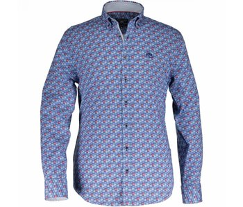 State of Art Shirt lange mouw blauw 214-18140-4657