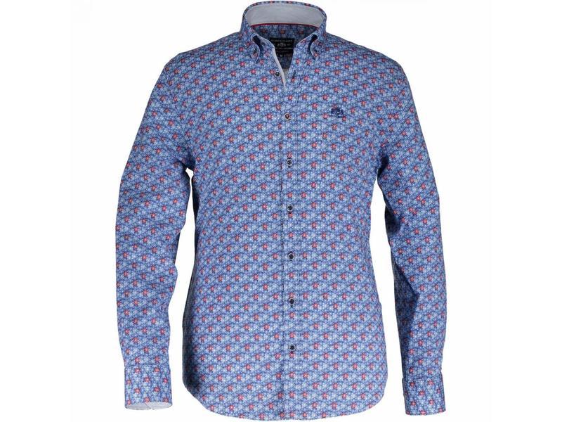 State of Art Shirt lange mouw blauw 214-18140-4657