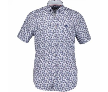 State of Art Shirt korte mouw blauw 264-18118-4657